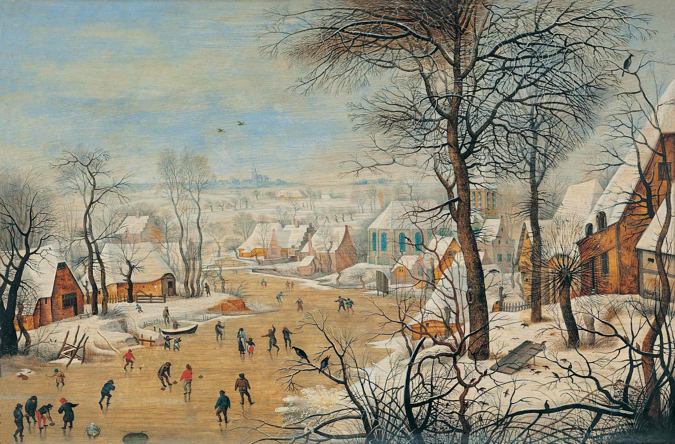 Зимний пейзаж с ловушкой для птиц» П. Брейгеля Младшего