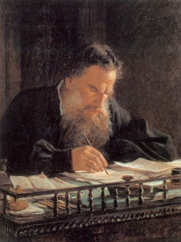 Портрет писателя льва николаевича