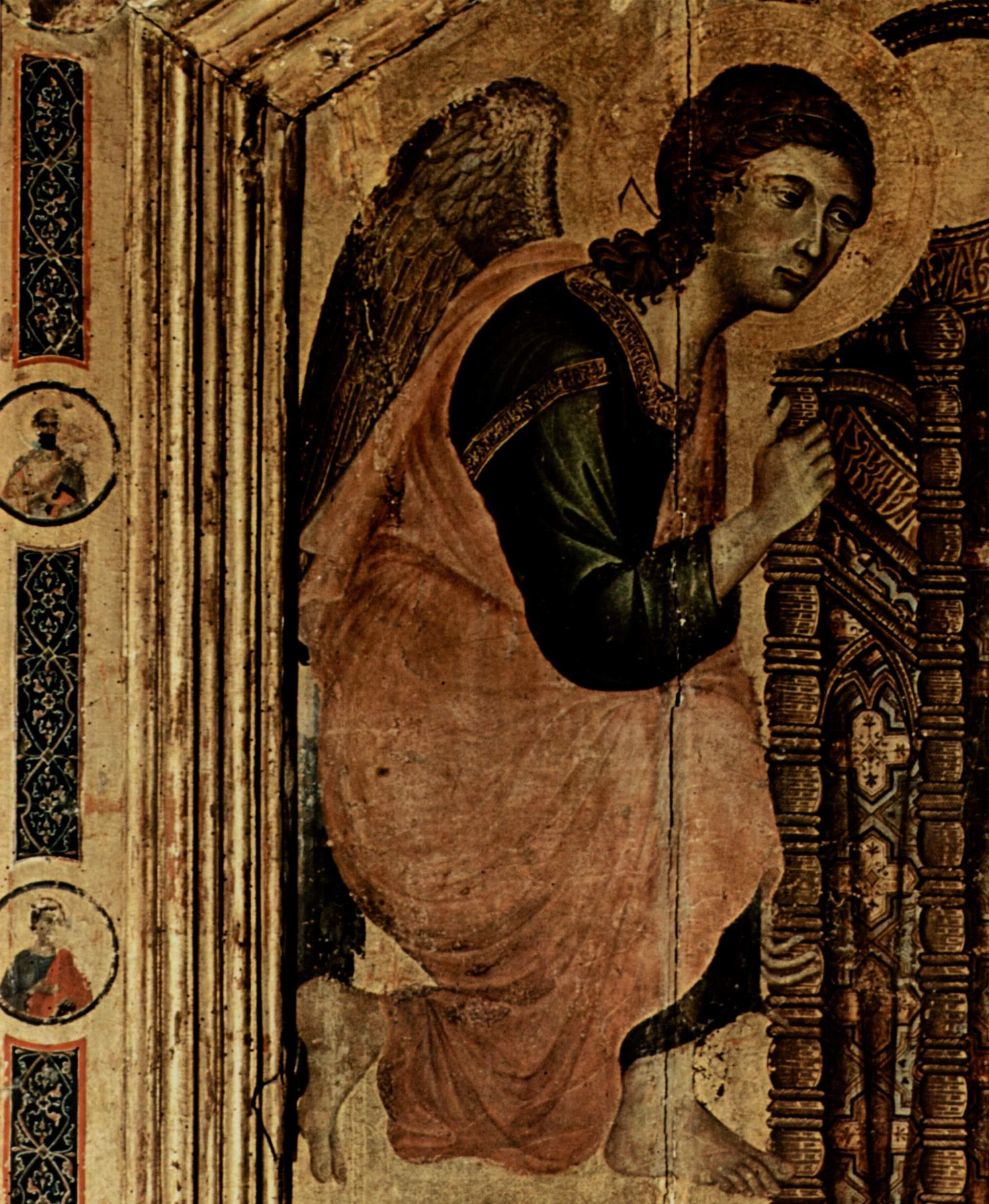 rucellai madonna Rucellai madonna c1285 tempera on wood galleria degli uffizi, florence, italy deposited in the church santa maria novella, florence, italy.