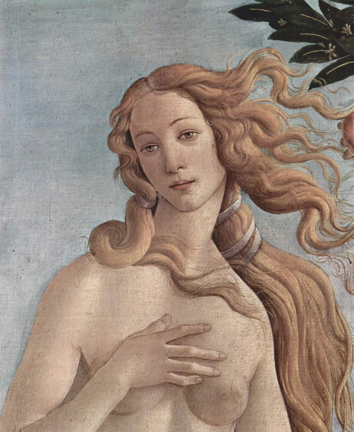 sandro botticello paints beauty in the birth of venus